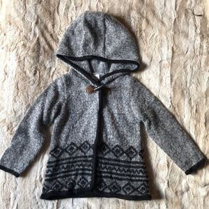 Carter's 18 month gray hooded sweater acrylic&poly